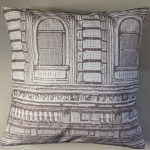 "Sketched Buildings Cushion Cover Matches Next Curtains 14"" 16"" 18"" 20"""